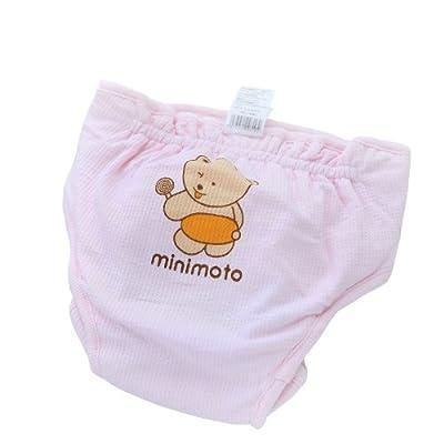 minimoto 小米米 婴儿防漏尿裤棉 (0-3个月, 粉红)