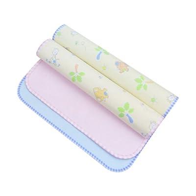 elepbaby 象宝宝 隔尿垫 婴儿竹纤维三层双面防水隔尿垫大号2条装(蓝色+粉色)100X60cm