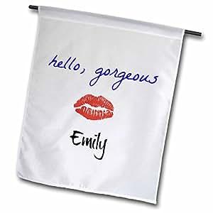 xander 趣味引言–Hello 华丽 Emily PICTURE OF 嘴唇–旗帜 12 到 18 英寸