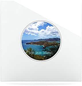 Kess InHouse Deepti Munshaw Enjoy Explore Experience Island 豪华方形板,10 x 10 英寸