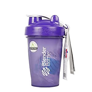 美国原装进口 运动必备 随时随地补充蛋白质 Blender Bottle Classic 全色 经典款 蛋白粉摇摇杯/运动水杯 防漏 带不锈钢搅拌球 20oz(约600ml)70348-PU 紫色