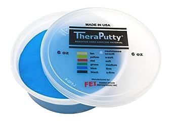 CanDo TheraPutty 标准锻炼推杆 蓝色:坚硬 6盎司