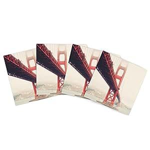 Kess InHouse Bree Madden 金色门户外餐垫,15 x 15 英寸,4 件套