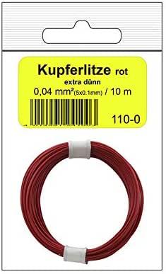 Donau Elektronik 110 – 0SB 单弹性线包,红色,10 米