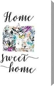"PrintArt GW-POD-48-TA1567-13x16""Home Sweet Home Floral"" Tara Moss 画廊装裱艺术微喷油画艺术印刷品,33.02 x 40.64 厘米"
