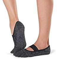Toesox Grip Pilates Barre 袜 - 防滑 Mia 全趾 适用于瑜伽和芭蕾