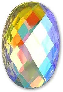 椭圆形树脂平背水钻20颗,CT-2180 Crystal Ab 18 x 25mm CT-2180