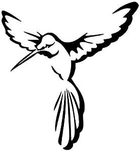 Bee Bird Dance - 动物贴花乙烯基贴纸适用于汽车、自行车、iPad、笔记本电脑、MacBook、头盔 黑色 12cm