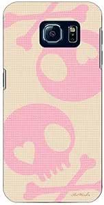 COVERFULL 骷髅米色 × 粉色 Design by Artwork / For Galaxy S6sc-05g/docomo dsc05g 声 - M791Samsung