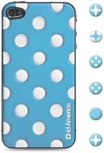 id America CSI404-BLU Cushi Dot Soft Foam Pad for iPhone 4/4S - 1 Pack - Retail Packaging - Aqua Blue