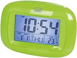 Trevi SLD 3016温度计温度闹钟 Digital 带 LED 背光和显示屏 绿色 130 x 90 x 55 mm