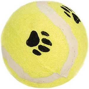 Beeztees 625594 带爪印网球,6.5 厘米,黄色