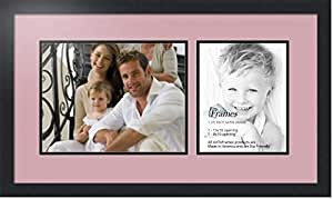 ArtToFrames 拼贴照片框双垫,带 2 个开口,黑色缎框 Seashell 1-8x10, 10x13 Double-Multimat-1425-846/89-FRBW26079