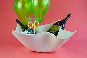 DIGKdesign DELFAZZO 豪华香槟清凉器 Corian t. Edel 葡萄* 冷冻机 设计香槟 白色 30x48x60cm No.3