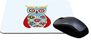 Rikki Knight Blue Owl Patchwork Lightning Series Gaming Mouse Pad