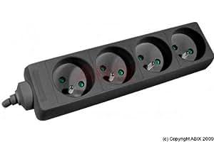 EXC 808541 M/F CEE 7-7/7-5 4 路电源板 - 黑色