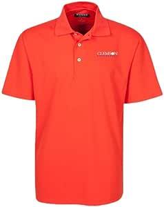 牛津 NCAA 克莱蒙森老虎队男士细格高尔夫 Polo 衫,阳光亲吻,S 码