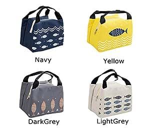 儿童午餐袋手提袋便携动漫图案保温冷藏收纳袋午餐盒,适合女士、男士、女孩、儿童、学生 *蓝