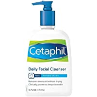 Cetaphil Daily Facial Cleanser Normal to Oily Skin, 16 oz 3片装