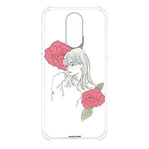 卡丽 壳 透明 硬质 印刷 女孩和玫瑰 智能手机壳 对应全部机型 女の子とバラB 21_ LG style L-03K