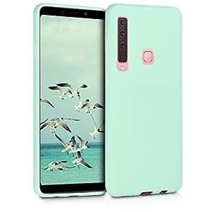 kwmobile 三星 Galaxy A9 (2018) 水晶手机壳 - 柔软弹性 TPU 硅胶保护套 - 透明46577.50_m001323 薄荷哑光