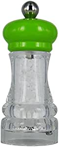Marlux Salt Mill,透明亚克力带闪亮的榉木顶部 石灰绿 4-1/3-英寸 S386.118335