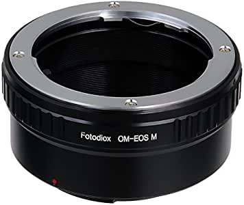 Fotodiox 镜头安装适配器OM-EOSM 标准 Olympus 35mm 黑色