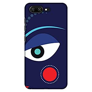 AMZER 修身款手工制作设计师印花硬壳后盖皮肤 Gionee S10 - Dekho Magar Pyaar Se HD 彩色薄保护壳AMZ601040066232 蓝色