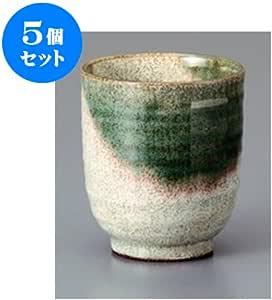 5个一套 寿司汤吞 凯拉奇织部寿司茶杯 [8.1 x 9.2cm] 土具 [料亭 旅馆 日式餐具 餐饮店 业务用 餐具]