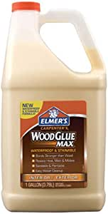 Elmer's E7330 Carpenter's Wood Glue Max强力木材胶, 1 Gallon