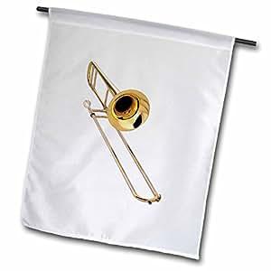 fl_4186 Music - Trombone - Flags 12 x 18 inch Garden Flag