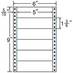 东洋印刷 褶皱泡沫标签 6英寸 ×9英寸 6面(1盒1000折) MM6K