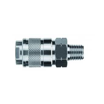 AIGNEP USA 80121-08 0.64 厘米工业耦合器 x 1.27 厘米公 NPTF 螺纹(镀镍黄铜)