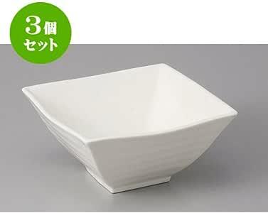 3个一套 中碗 (强化) N.B13cm角盆 [13 x 13 x 6cm] 【日式*馆 旅馆 日式餐具 餐饮店 业务用 餐具】