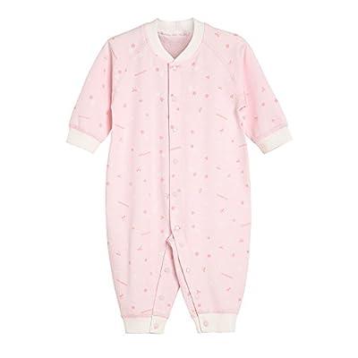 Minimoto 小米米 小星星长袖系列 对襟连身衣6-9个月 粉红 66/44