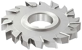 "KEO Milling 80380 直齿 M42 侧铣刀,""DB""式,1.91 厘米宽,3.18 厘米轴孔,24 齿,10.16 厘米切割直径,HSCO,TiCN 涂层"