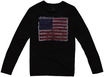 FUFM 由你由我 男式 长袖T恤 一件装 黑色 XL M11MST003