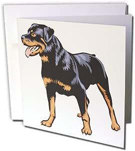 Blonde Designs 可爱又可爱的小狗 - 可爱又可爱的犬旋转车 - 贺卡 Set of 12 Greeting Cards