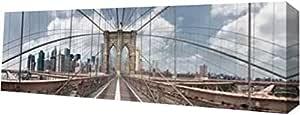 "PrintArt GW-POD-34-8547B-30x10""Brooklyn Bridge"" 由 Shelley Lake 创作画廊装裱艺术微喷油画艺术印刷品 30"" x 10"" GW-POD-34-8547B-30x10"