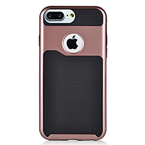 Eagle Cell 超薄混合双层保护硬壳适用于 Apple iPhone 7 Plus 5.5 英寸PHIPH7PLSZX3BKROGL Black/Rose Gold