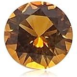 神秘 0.92-0.96 克拉 7 毫米 AAAA(传家宝)圆形精细机器切割黄水晶(1 件)松散宝石