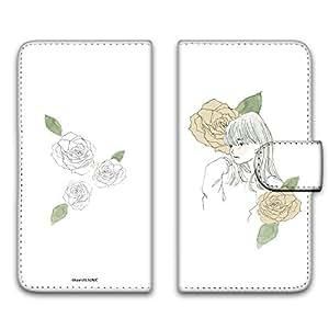 卡丽 壳 印刷手册 女孩子和玫瑰 智能手机壳 手册式 对应全部机型 女の子とバラE 9_ FREETEL XM FT142D_LTEXM