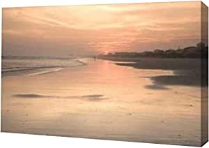 "PrintArt GW-POD-11-PSHSF-171-16x11""海滩日落 I""由 Alan Hausenflock 画廊装裱艺术微喷油画艺术印刷品,40.64 cm x 27.94 cm"