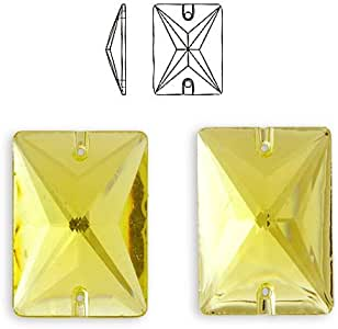 矩形树脂缝制平背水钻,CT-6250-SO Jonquil 18 x 13mm CT-6250-SO