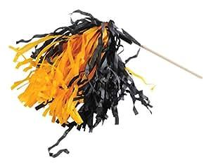 Beistle 66072BKGY 144 件 黑色 & 金黄色 纤维巾 摇篮,黑色/金黄色