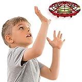 Force1 Scoot 手动无人机-免提迷你无人机,简易室内小型UFO飞球无人机玩具 适合儿童(男孩和女孩)和成人(红…