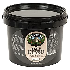 Sunleaves Mexican Bat Guano Garden Hydroponic Bloom Stimulator Plant Enhancer Nutrient 1.25 Pounds