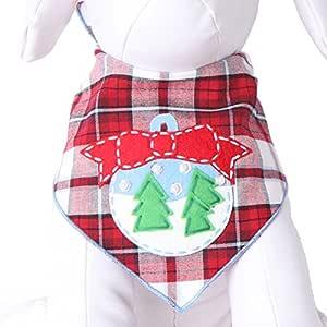 Tail Trends 圣诞犬万花节(圣克萨斯州、雪曼、鲁道尔弗)设计师贴花 * 纯棉 Snow Globe 大