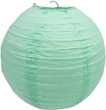"""3 件装圆形纸灯笼灯婚礼生日派对装饰 薄荷绿 14""""/35CM"""