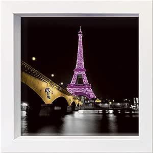 """国际图形带框明信片 - Valverde,Anne - """"女士粉红色"""" - 16 x 16 厘米 - 4 个框架 16 x 16 cm 白色"""